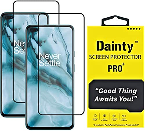 Dainty Tempered Glass Screen Guard For Oneplus Nord Black Edge To Edge Full Screen Coverage With Easy Installation Kit Pack Of 2