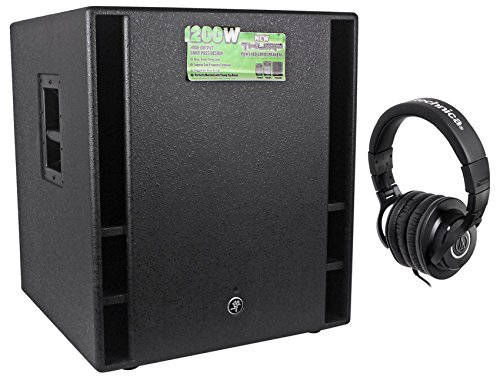 "commercial Mackie THUMP18 THUMP-1818 ""1200W18"" active subwoofer + free headphones mackie thump 18s"