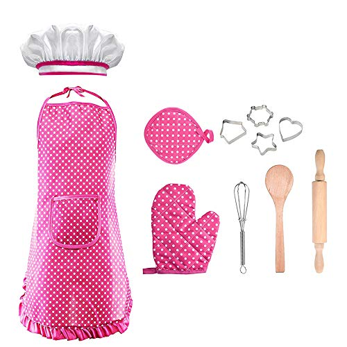 Gift for 3-8 Year Old Girl, KITY Chef Set for Girls Toys Age 3-8 Christmas Gift Toys for 3-8 Year Old Girls Stocking Fillers Pink