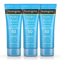 Neutrogena Hydro Boost Water Gel Non-Greasy Moisturizing Sunscreen Lotion with Broad Spectrum SPF 50, Water-Resistant