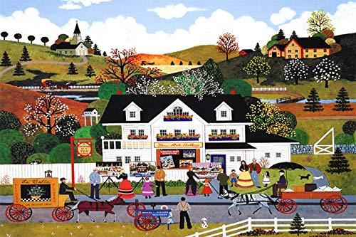 JCCOZ - Rompecabezas URG, serie clásica de dibujos animados de cuatro estaciones en la ciudad, rompecabezas de 500/1000 piezas para adultos, decoración del hogar URG (color: B, tamaño: 1000 piezas)