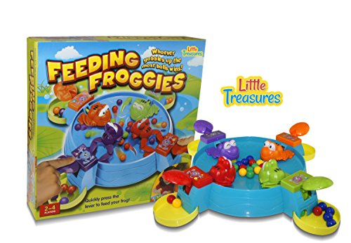 Little Treasures Feeding Frogs Game, Feed the Hungry Froggies before the Other Froggies Eat Up All The Balls Fun Kids 3D Board Game