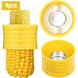 4 Stücke Kolben Mais Stripper Mais Abisolier Werkzeug Manuelles Mais Dreschen zum Entfernen von Kernen aus Frischem Mais