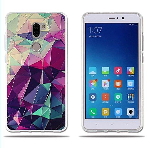 FUBAODA Funda para Xiaomi Mi5S Plus, Carcasa de Silicona Transparente TPU, 3D Relear,Dibujo de Colorido Cubo Mágico, Flexible Amortigua los Golpes, Funda Protectora para para Xiaomi Mi5S Plus (5.7')