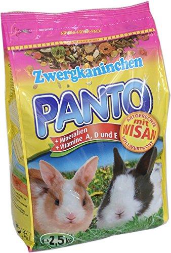 Panto Zwergkaninchenfutter 2.5 kg, 4er Pack (4 x 2.5 kg)