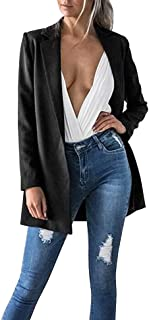Las Mujeres Populares Casual Manga Larga Rebecas Color Sólido Blazer Outwear