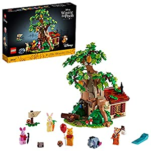 Enjoy me-time or quality family time and spark childhood memories with this LEGO Ideas display set (21326) featuring Disney Winnie the Pooh and Pooh Bear's house in Hundred Acre Wood Includes 5 characters: Winnie the Pooh, Piglet, Tigger and Rabbit m...