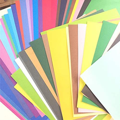 NA 50 Colores/Paquete Papel de Embalaje Multicolor Color sólido Tarjeta de Bricolaje Papeles de álbum de Recortes para niños Papel de Origami Regalo de Envoltura Artesanal Hecho a Mano