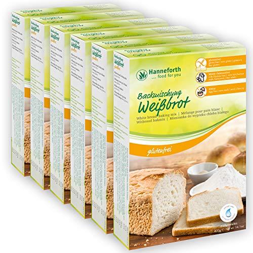 Glutenfreie Backmischung Weißbrot, Toastbrot | 6x400gr | hanneforth
