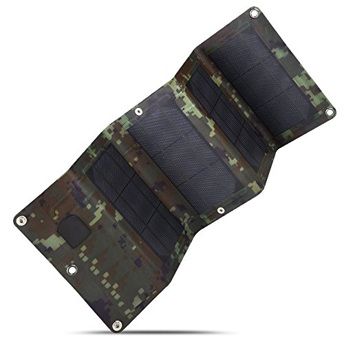 Sulprewopi 10W USB Solar Cell Charger,Foldable Monocrystalline Mobile Solar Panel for Charging Smartphone,Power Banks (Camouflage)