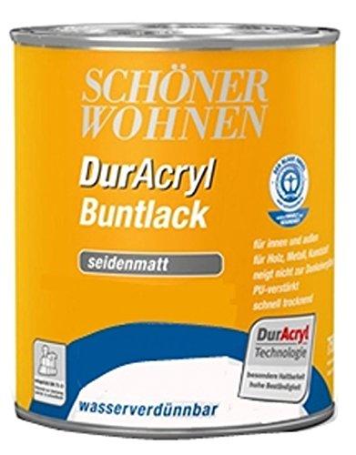 Schöner Wohnen DurAcryl Buntlack Seidenmatt 0,75 L Farbwahl, Farbe (RAL):RAL 2001 Rotorange