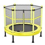 MXXQQ Trampolín Grande de 5 pies con cerramiento de Red, colchoneta de Salto para Interiores y Exteriores para Adultos, niños pequeños, Resistente, Carga 300 kg