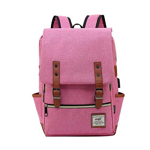 Backpack Bag Men Anti Theft Backpack Laptop Backpack Usb Charging Men Waterproof Travel Backpack College Student School Bags Watermelonred