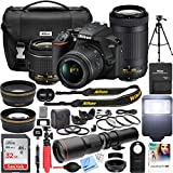 Nikon D3500 DSLR Camera with 2 Lens NIKKOR AF-P DX 18-55mm f/3.5-5.6G VR and 70-300mm f/4.5-6.3G ED Dual Zoom Lens Bundle with 500mm Preset f/8 Telephoto Lens and Accessories (22 Items)