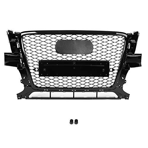 KIMISS Front Sport Hex Mesh Honeycomb Haubengrill Schwarz RSQ5 Style für Q5 8R 09-12…