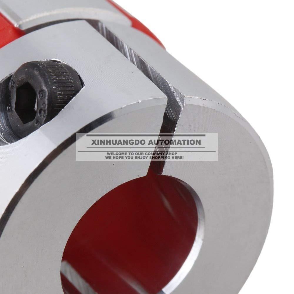 Ochoos 10mm x 14 mm CNC Jaw Plum Coupling Shaft Coupler D30 L42 Finish Maching Inner Diameter: 10X14 D30 L42