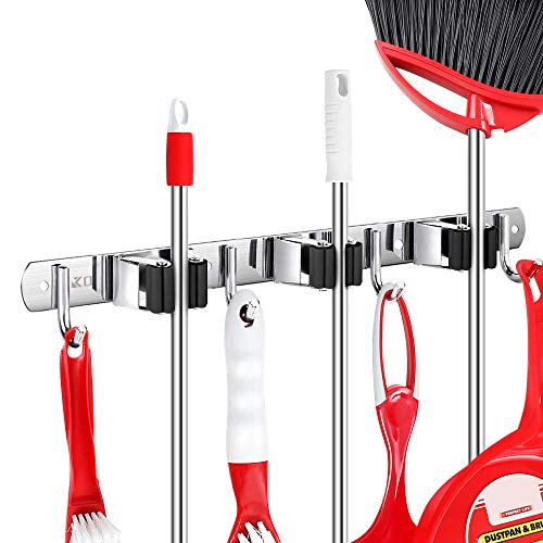 Kosair Broom and Mop Holder Wall Mounted Now $9.99 (Was $19.99)