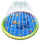 Joyjoz 噴水プール 噴水マット 水遊び おもちゃ 夏対策 ビニールプール 家庭用プール 子供プール 子ども プール 空気不要 プール こども用 150CM直径