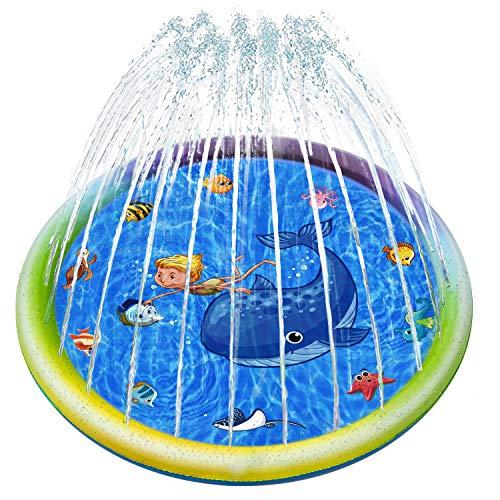 Joyjoz 噴水プール 噴水マット 水遊び おもちゃ 夏対策 ビニールプール 家庭用プール 子供プール 子ども プ...