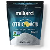 Milliard Citric Acid 1 Pound - 100% Pure Food Grade Non-GMO Project Verified (1 Pound)