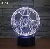 Fútbol Siete Colores 3D Atmósfera Luz Decoración Del Hogar Toque Inducción Dormitorio Luz De Noche