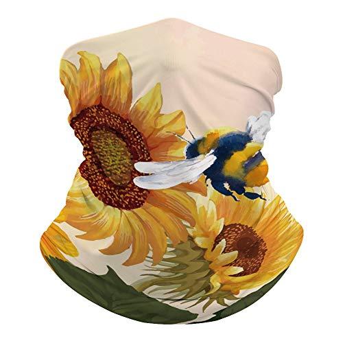 Máscara facial Promini con diseño de abeja, sin costuras, para la cabeza, para mujeres, hombres