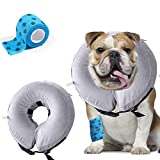 AILITRADE Pet Inflatable Basic Dog Collars for Large Dogs, Comfy Pet Collar Cone for Recovery