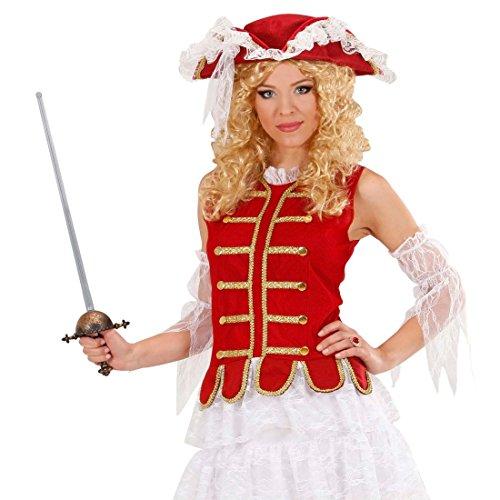 NET TOYS Musketier Degen Mittelalter Schwert mit Scheide 68cm Piraten Florett Karneval Waffe Rapier Ritter Kostüm Accessoire