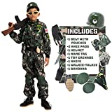 Spooktacular Creations Camo Trooper Costume Outfit for kids, Halloween Dress Up, Role-Playing, and Carnival Cosplay (Medium ( 8- 10 yrs))