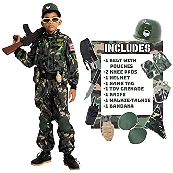 Child Boy Army Special Forces Costume  Large 10-12 yr