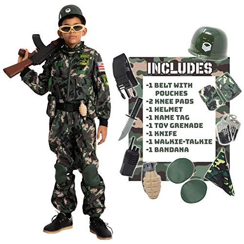 Child Boy Army Special Forces Costume (Medium (8-10 yr))