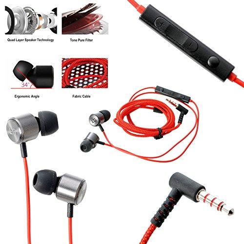 LG® GLITZY GIZMOS® ORIGINALE ROSSO QUADBEAT 3 LE630 HSS-F630 IN EAR CUFFIE/STEREO HEADSET/KIT MANICHE/CUFFIE 3,5 MM COMPRESO IL MICROFONO PER G2/G3s/G4/G5/G FLEX 2