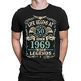 buzz shirts Homme 50th Cadeau d'anniversaire - Life Begins at 50 Homme Chemise - Born...