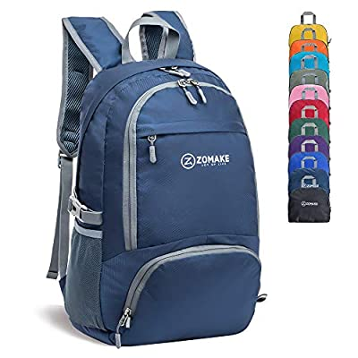ZOMAKE 30L Lightweight Packable Backpack Water Resistant Hiking Daypack,Small Travel Backpack Foldable Camping Outdoor Bag Jewelry Blue