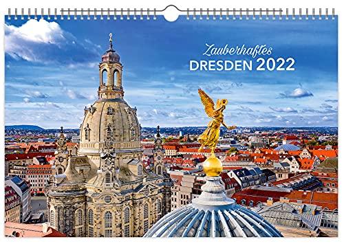 Kalender Zauberhaftes Dresden 2022 | 60 x 40 cm | Premium-Kalender