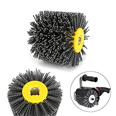 120x100mm Nylon Abrasive Wire Drawing Wheel Drum Burnishing Brush Set For The Surface Treatment Of Furniture Wooden Products Polishing