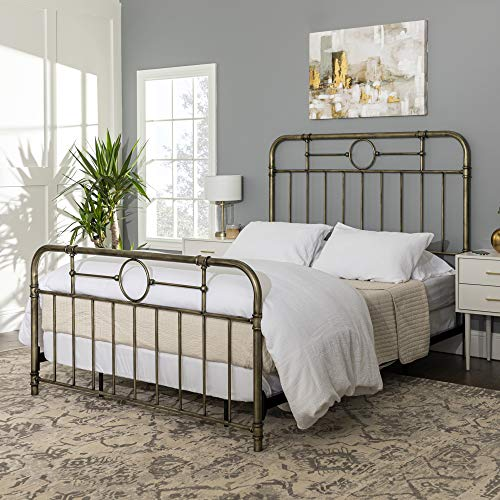 Walker Edison Furniture Company Vintage Metal Iron Pipe Bed review