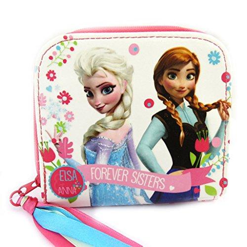 Zip Wallet 'Frozen - Reine des Neiges'weiße Rose.
