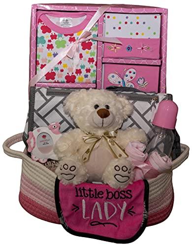 Welcome Home Precious Baby Basket, Girl