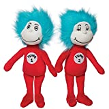 Manhattan Toy Dr. Seuss Thing 1 and Thing 2 Plush Toy Set , Red