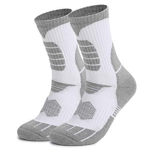 Men's Socks 2 Pairs,Multi Performance Athletic Socks,Wicking Breathable Cushion Anti Blister Comfortable Casual Crew Socks,Outdoor Sports Running Hiking Trekking Climbing Camping Socks.