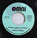 Vernon Oxford 45 RPM Hazard County Saturday / What Color is The Wind
