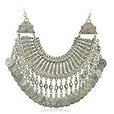 Idealway - Collana in argento stile boho etnico turco indiano tribale zingaro