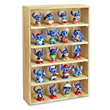 Ikee Design Wooden Wall-Mounted Display Shelves Rack for Figures, Shot Glasses, Spice Can or Collection, 11' W x 3 1/8' D x 16 1/8' H