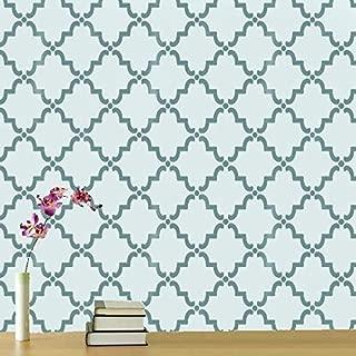 Moroccan Rabat Trellis Decor Stencil   Home Wall Decor Pattern Art & Craft Stencil   Paint Walls Fabrics & Furniture   190 Mylar Reusable Stencil (M/25x37cm/see images)