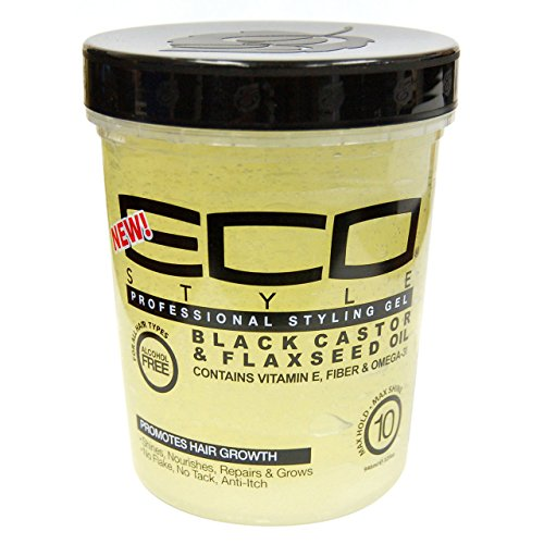 Beauty Logica Eco Style Gel Black Castor & Flaxseed Oil, 32 oz