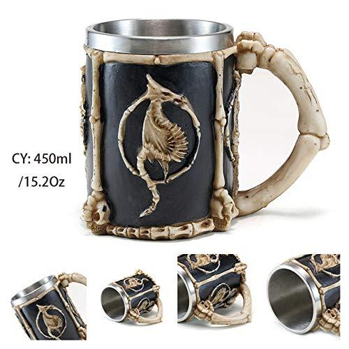 Silver Dragon kwaad hars cup bier mok roestvrij staal koffiekopje retro thee verschrikkelijk Viking Bar Pub Decor Direct scheepvaart,draak