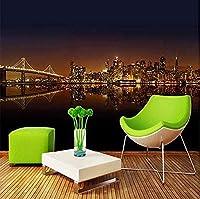 Bosakp 3Dステッカー壁の壁画の装飾壁紙都市建築リビングルームのソファの寝室の背景家の装飾アートキッズルームのキッチンの装飾 360X250Cm