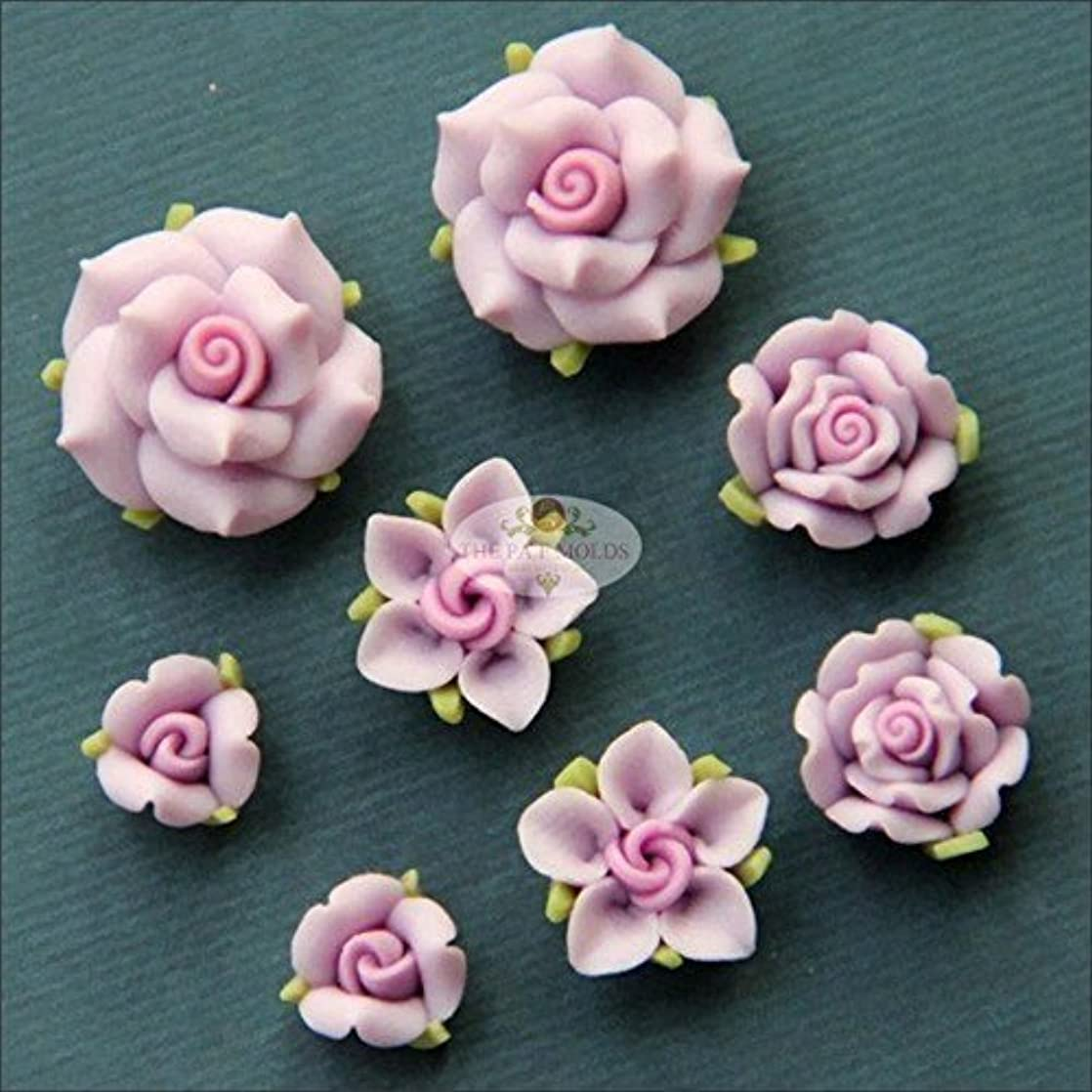 Sugarcraft Molds Polymer Clay Cake Border Mold Soap Molds Resin Candy Chocolate Cake Decorating Tools tiny flower set mold 4656-987 smbbeied57647