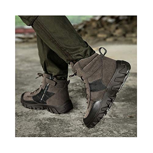 Winter Camping Shoes Tactical Boots,Military Combat Boot ,Men Army Hunting Trekking Mountaineering Shoe,Grey-41